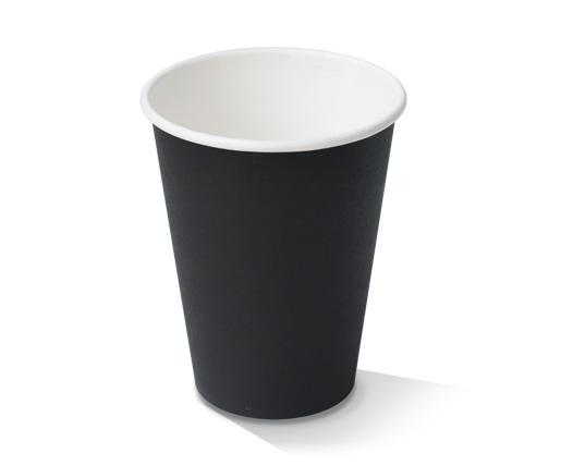 12oz Black Single Wall Cup