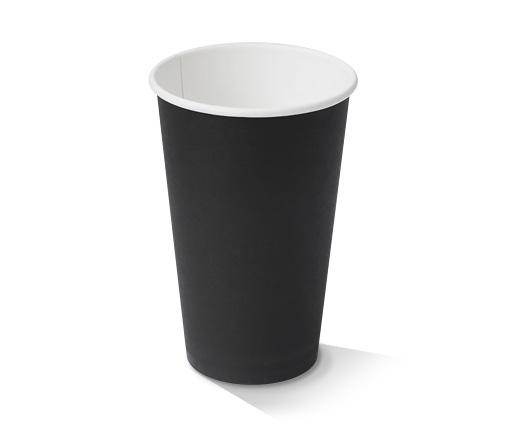 16oz Black Single Wall Cup