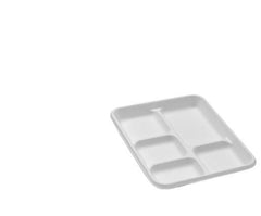 Sugarcane Bagasse Square Plates and Compartments Platters