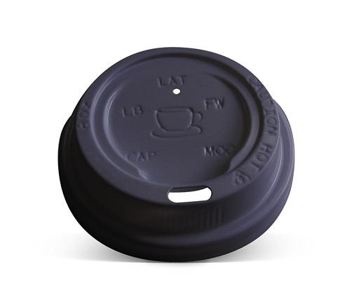 *8/12/16/20oz Plastic Hot & Cold Lid / Black