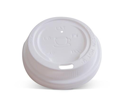 *8/12/16/20oz Plastic Hot & Cold Lid / White