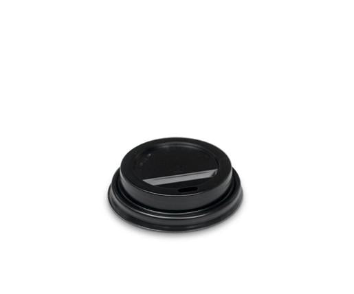 4oz Plastic Hot & Cold Lid / Black