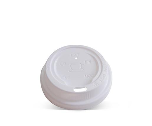 4oz Plastic Hot & Cold Lid / White