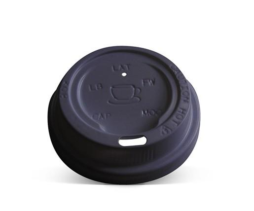 6/8/10oz Plastic Hot & Cold Lid / Black