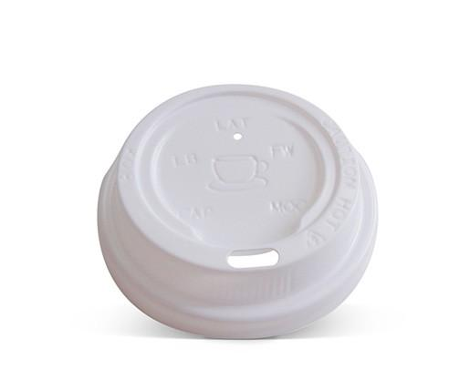 6/8/10oz Plastic Hot & Cold Lid / White