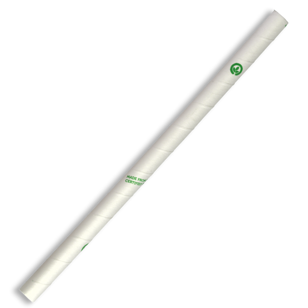 10mm Jumbo White BioStraw
