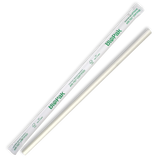 6mm Regular White Biostraw-Individual Wrapped