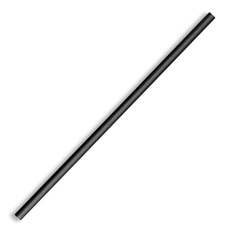 6mm Regular Black BioStraw