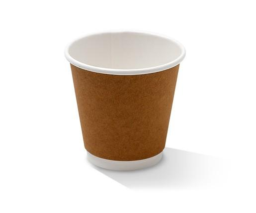 *8oz(90mm) Double Wall Cup/Kraft/one-lid-fits-all