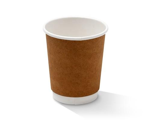 8oz Double Wall Cup/Kraft/standard