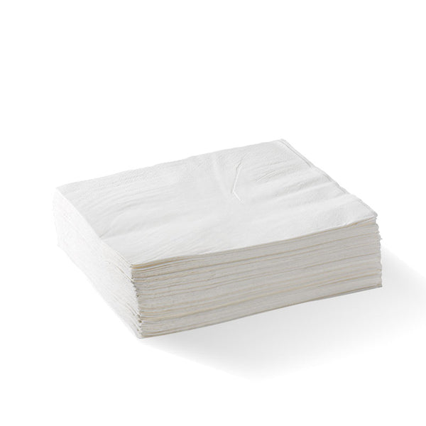 White - 2 Ply 1/4 Fold Lunch BioNapkin