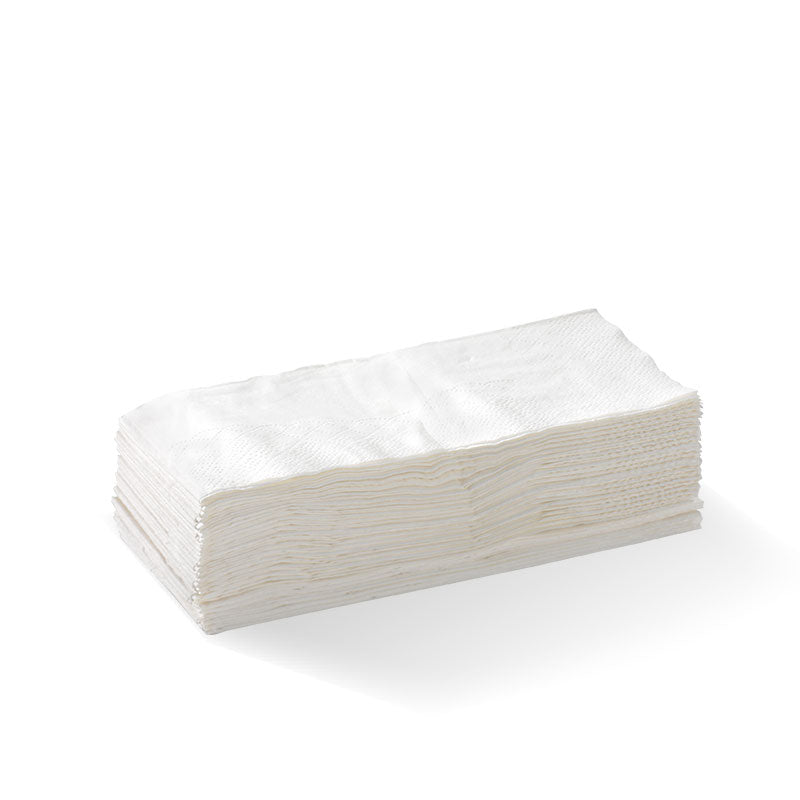 White - 1 Ply 1/8 Fold Lunch BioNapkin