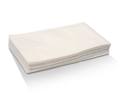 White 2 ply dinner napkin - 1/8 GT fold