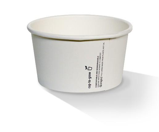 16oz PLA Hot/Cold Paper Bowl/plain