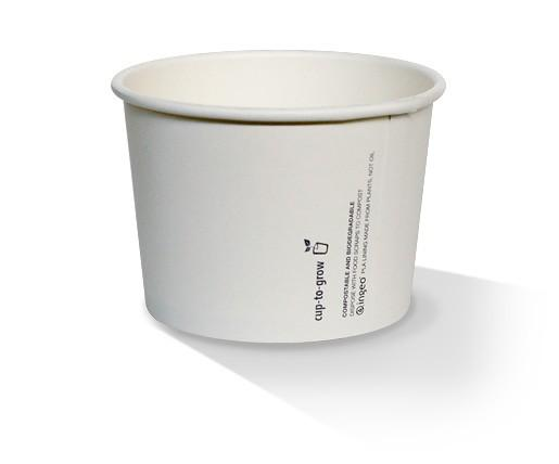 24oz PLA Hot/Cold Paper Bowl/plain
