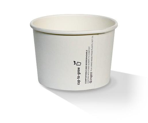 8oz PLA Hot/Cold Paper Bowl /plain