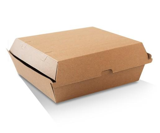 Dinner Box / Brown Corrugated Kraft / Plain