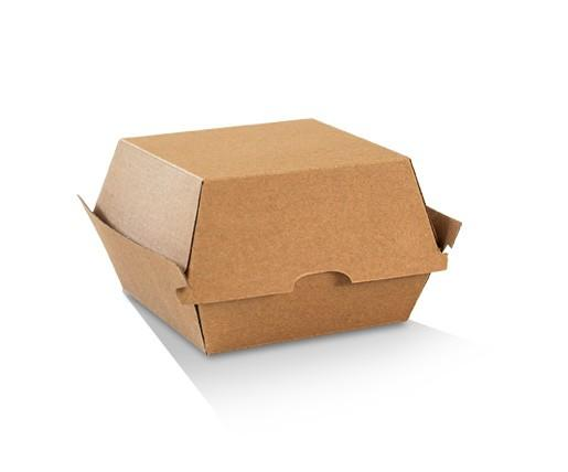 Burger Box / Brown Corrugated Kraft / Plain