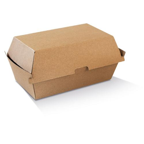 High Snack Box - Large / Brown Corrugated Kraft / Plain