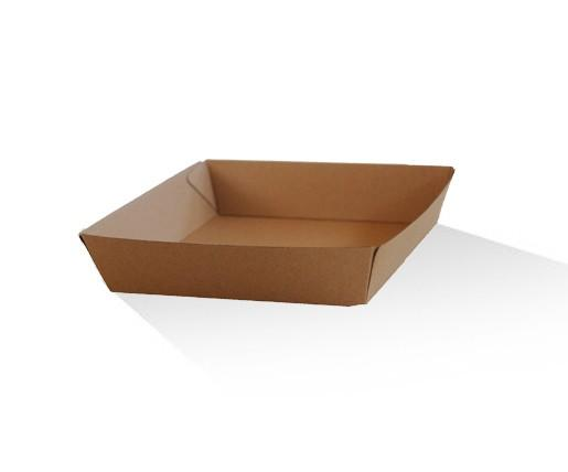 Tray square / Brown Corrugated Kraft / Plain
