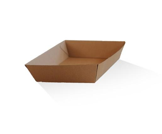 Tray medium / Brown Corrugated Kraft / Plain