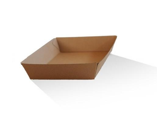 Tray large / Brown Corrugated Kraft / Plain