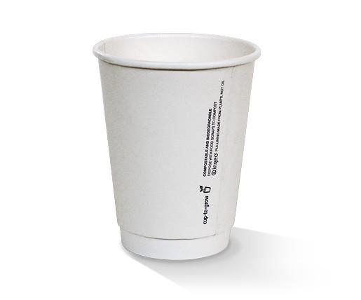12oz PLA coated Double Wall Cup / plain
