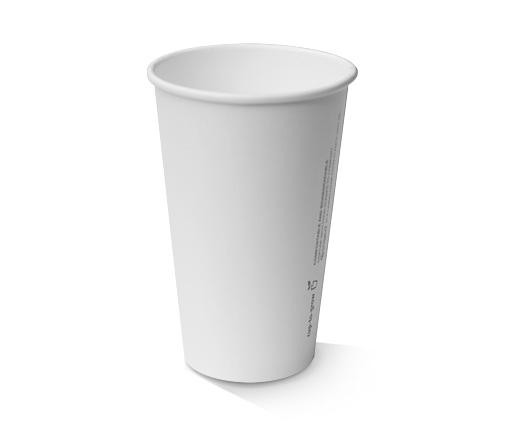 12oz(80mm)PLA coated Single Wall Cup / plain white