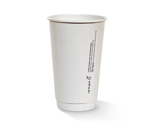 16oz PLA coated Double Wall Cup / plain
