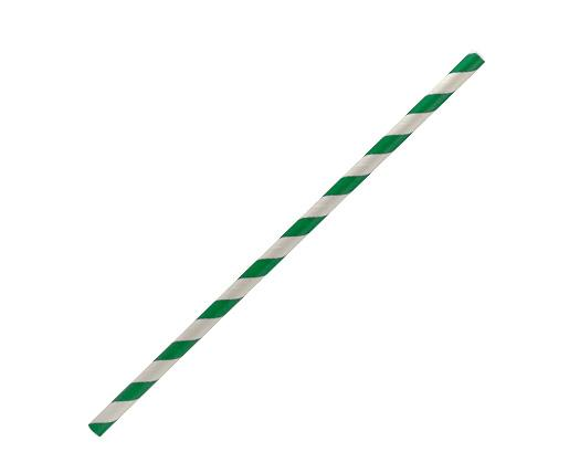 Paper Straw Regular - Green stripe