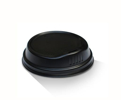 6/8/10oz Biodegradable Hot & Cold Lid / Black
