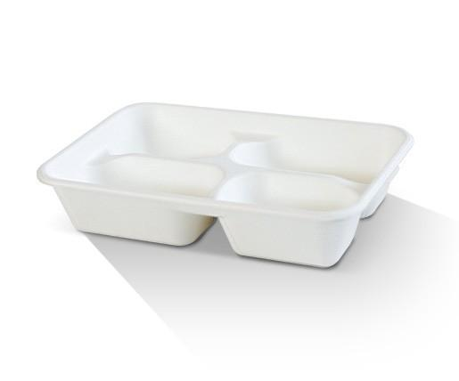 Sugarcane Tray-4 Compartment