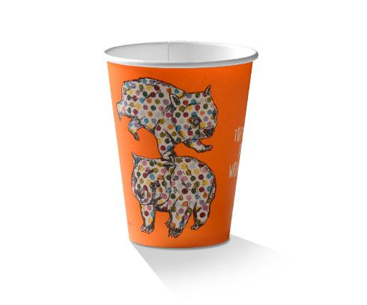 12oz PLA Coated Single Wall Cup /Animal-Print