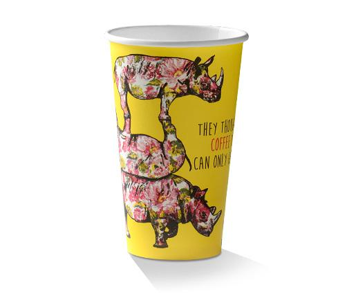16oz PLA Coated Single Wall Cup /Animal-Print