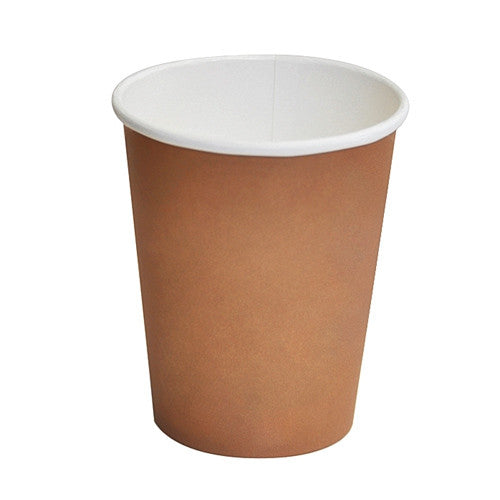 12oz PLA coated Single Wall Cup / brown print