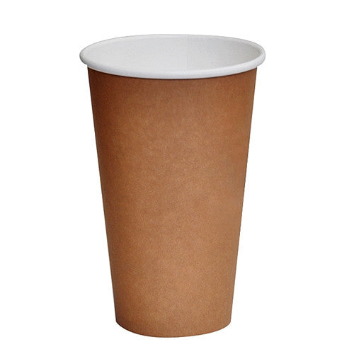 16oz PLA coated Single Wall Cup/ brown print