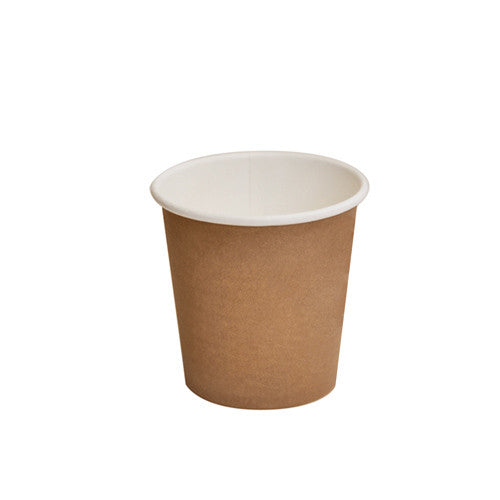 4oz PLA coated Single Wall Cup / brown print