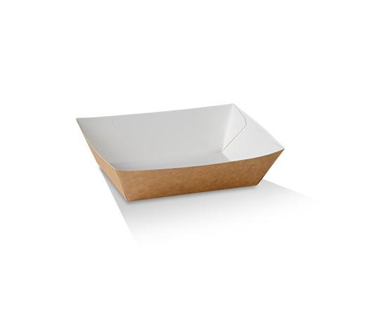 #2 Small Tray/White & Kraft Cardboard 110x75x40 mm
