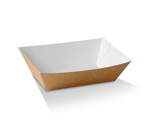 #3 Medium Cardboard Tray/White & Kraft 140x85x55 mm