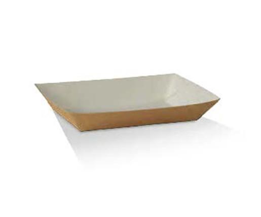 Hot Dog Cardboard Tray/White & Kraft 190x70x50 mm