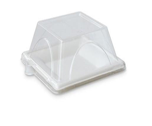 "PET Lid for 6"" Square Plate"