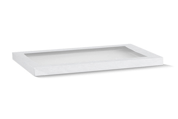 White Catering Tray Lid-Medium
