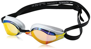 Speedo Speed Socket 2.0 Mirrored Swim Goggles, Vapor, One Size.
