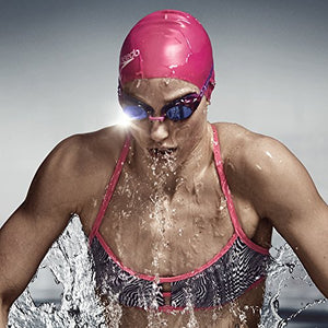 Speedo Women's Vanquisher 2.0 Mirrored Goggles, Magenta.