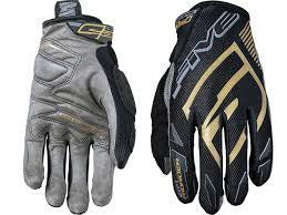 FIVE MXF PRO RIDER S BLACK/GOLD GLOVES