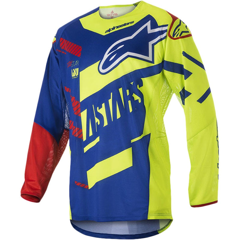 ALPINESTARS 2018 TECHSTAR SCREAMER BLUE/FLURO JERSEY