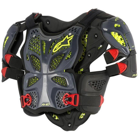 ALPINESTARS A-10 BLACK/RED/YELLOW CHEST ARMOUR