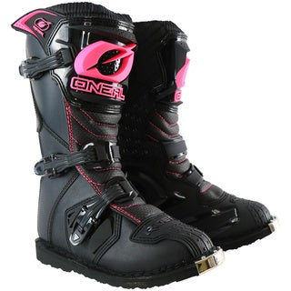 ONEAL YOUTH RIDER BOOTS BLACK/PINK