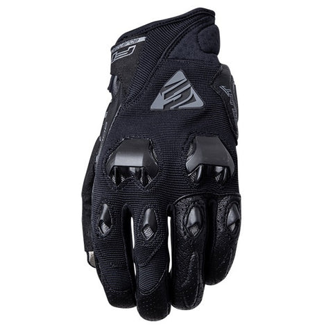 FIVE 'AIRFLOW' EVO FULL BLACK GLOVES