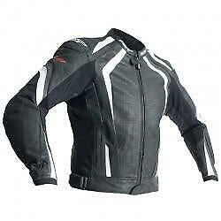 R-18 CE LEATHER JACKET BLACK/WHITE